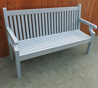 3 seater winawood garden bench in powder blue colour